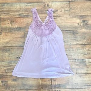 Violet top with flowers